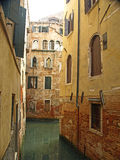 Venetian Side canals Royalty Free Stock Photos