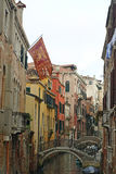 Venetian Side canals Royalty Free Stock Images