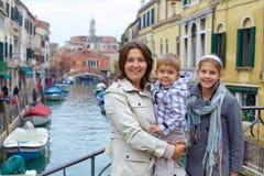 Venetian sikt och familj Arkivbilder
