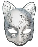 venetian silver för karnevalkattmaskering Royaltyfri Bild