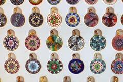 Venetian souvenir - Murrine hänge arkivbild