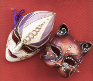 Venetian style masks Stock Images