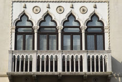 Venetian-style windows Royalty Free Stock Image