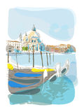 Venetian summer illustration Royalty Free Stock Images