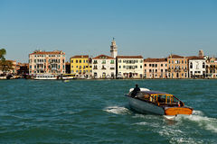 Venetian taxi boat Royalty Free Stock Photos