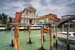 Venetian taxis and public transport. Royalty Free Stock Photos