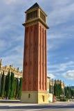Venetian torn - Barcelona, Spanien Royaltyfria Foton