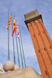 Venetian tower. Barcelona. Stock Image
