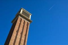 Venetian Tower in Barcelona Stock Image