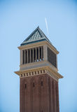 Venetian tower in Barcelona Royalty Free Stock Images
