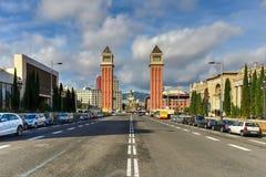Venetian Tower - Barcelona, Spain Royalty Free Stock Images