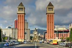 Venetian Tower - Barcelona, Spain Stock Image