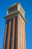 Venetian Tower, Barcelona Stock Photos