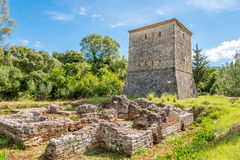 Venetian tower in Butrint stock photo