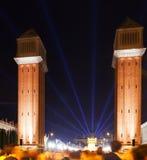 Venetian towers at  Barcelona Royalty Free Stock Photo
