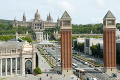 Venetian Towers - Barcelona - Spain Royalty Free Stock Image