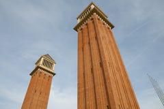 Venetian Towers - Barcelona - Spain Stock Photo