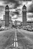 Venetian Towers, iconic landmarks in Barcelona, Catalonia, Spain Stock Photo