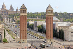 Venetian towers - top view Royalty Free Stock Images