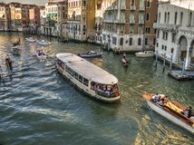 Venetian traffic jam Royalty Free Stock Images