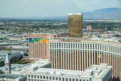 Venetian, Treasure Island, Caesars Palace, Treasure Island and LINQ Hotel and Casinos Royalty Free Stock Image