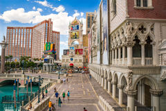 The Venetian and Treasure Island Hotel and Casino stock photos