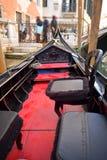 Venetian typical boat - gondola Stock Images