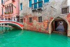 Venetian typisk sikt Arkivbild