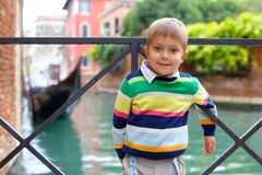 Venetian view  and boy Stock Photos
