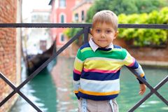 Venetian view  and boy Stock Image