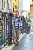 Venetian view  and boy Stock Photo