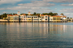 Venetian Village on Venetian Bay in Naples Florida stock photo