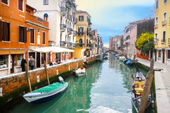 Venetian water canal Stock Image