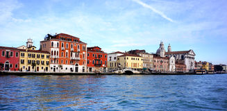 Venetian Waterfont Royalty Free Stock Photo