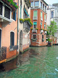 Venetian waterside apartments Royalty Free Stock Photos