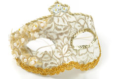 venetian white för maskering Royaltyfri Fotografi