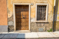 Venetian window, door, arch, architecture from Italy. The colors of Venice and Italy shown in the architectural detail of doors and windows, shutters, doowrways Royalty Free Stock Photography