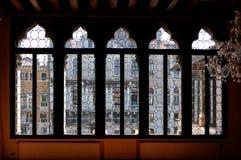 Venetian window palazzo Canal Grande, Venice, Italy Stock Image