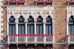 Venetian windows Royalty Free Stock Image