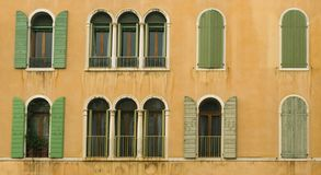 Venetian windows Royalty Free Stock Images