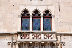 Venetian windows and balcony Royalty Free Stock Images