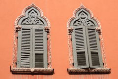 Venetian windows. With blinds and ornament Royalty Free Stock Photos