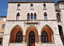 Venetian windows on a building in Split, Croatia Stock Photos