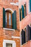 Venetian Windows. Italy. Closeup of Venetian windows. Italy Stock Photo