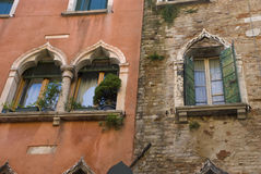 Venetian windows, italy Royalty Free Stock Image