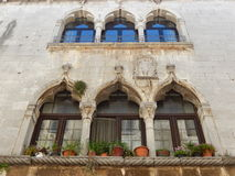 VENETIAN WINDOWS, POREC, CROATIA Royalty Free Stock Photo