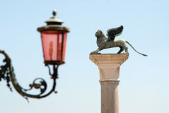 Venetian winged lion Stock Images