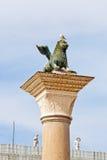 Venetian winged lion. Famous venetian winged lion, Venice Stock Images