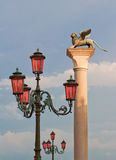 Venetian winged lion Stock Photography