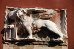 Venetian winged lion Royalty Free Stock Images